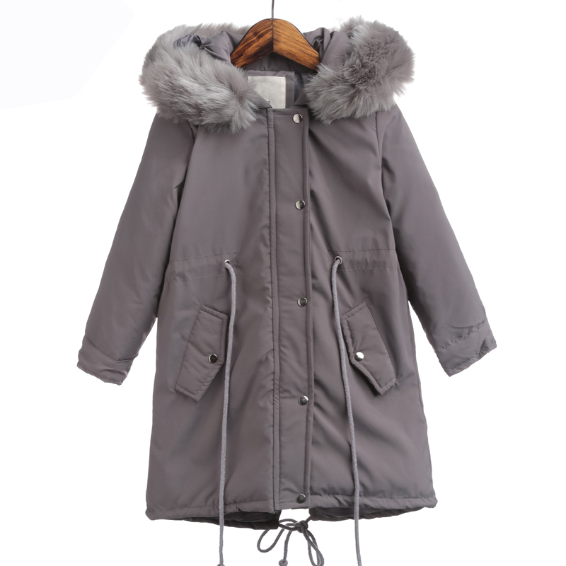 Rlyaeiz Winter Jackets For Girls 2018 Down Cotton Padded Thick Warm Children Coat Girls Mid-long Fur Collar Hooded Parka CoatsRlyaeiz Winter Jackets For Girls 2018 Down Cotton Padded Thick Warm Children Coat Girls Mid-long Fur Collar Hooded Parka Coats