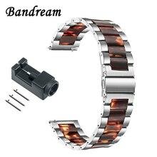 스테인레스 스틸 & 수지 시계 밴드 22mm 삼성 기어 S3 기어 2 네오 라이브 벡터 퀵 릴리스 시계 밴드 손목 스트랩 팔찌