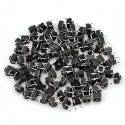 100 Pcs Tactile Push Button Switch Tact Switch 6X6X5mm 4-pin DIP