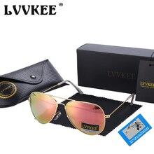 LVVKEE Brand Classic Polarized Sunglasses Men/Women Colorful Reflective Coating 62mm Lens Eyewear Accessories Sun Glasses 3026