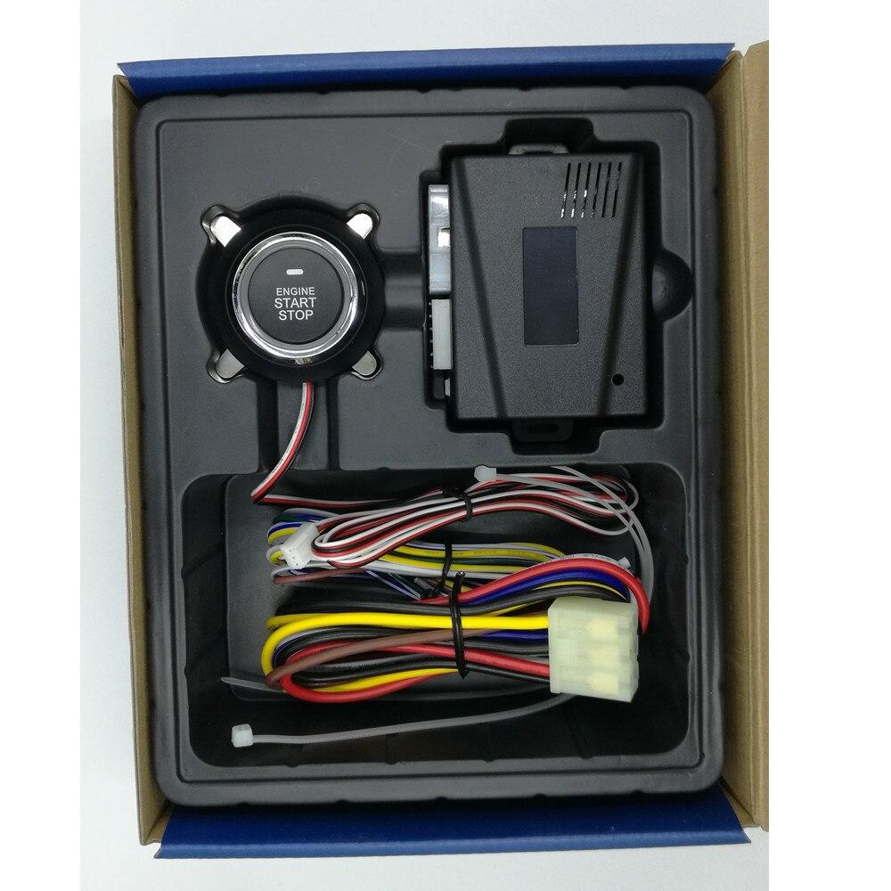 Offre spéciale système d'alarme de voiture automatique sans clé entrée moteur de voiture construit à distance verrouillage Central fonction de démarrage bouton poussoir PKE démarrage arrêt - 3