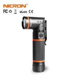 NICRON светодиодный фонарик ультра-яркий высокой Яркость Водонепроницаемый 3 режима 300LM CREE светодиодный Handfree факел магнит 90 градусов B70/ n72