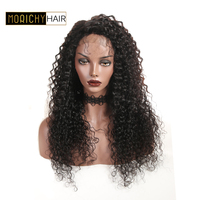 Morichy Curly Lace Front Human Hair Wigs For Black Women Pre plucked Brazilian Remy Hair 4X4 Lace Wig With Baby Hair 150 Density