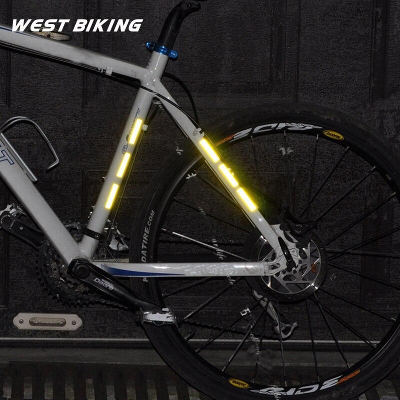 WEST BIKING Bicycle Spokes Reflective Sticker Stripe Mountain Bike Circle Warning Strips 3M Reflecting Material Cycling Spoke
