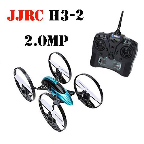 JJRC H3-2 4CH 6-axis 2.4GHz RC Quadcopter Car-copter with Gravity Sensor 2.0MP HD Camera RTF in stock original jjrc h8c 4ch rc quadcopter with 2mp camera 2 4ghz with more batteries free shipping
