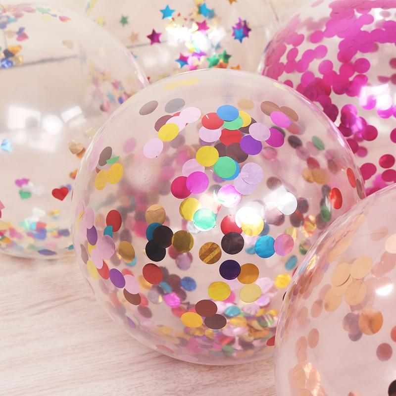 5 шт./лот, 12 дюймов, цветные конфетти, прозрачные воздушные шары с блестками, для детей, для дня рождения, мультяшная шляпа, для свадебной вечеринки, Декор, игрушки