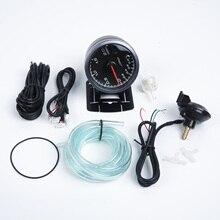 2,5 ''60 мм Автомобильный гоночный светодиодный турбо-манометр вакуумный пресс давление бар метр светодиодный дисплей между белым