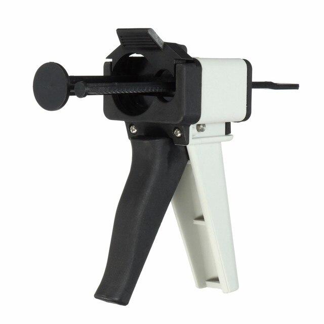 Pistola dispensadora de mezcla de impresiones dentales 10:1 Universal pistola de silicona dispensador de cartucho de goma 50 ml Material de cuidado bucal