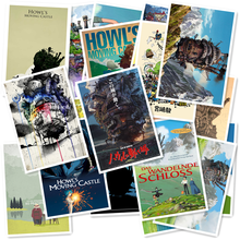 A1-30 Howls Moving Castle 20/pcs PVC Series Sticker Home Decor Fridge Styling Wall Travel Suitcase Graffiti