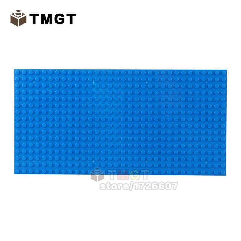 1 piezas bebé bloques de placa Base 16*32 puntos placa Base Placa de visualización de los niños bloques de construcción de plástico de juguete Accesorios