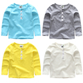 2017 la primavera y el otoño del todo-fósforo chicas chicos ropa de bebé niño de manga larga Camisetas camisa básica 100% algodón de la camisa básica