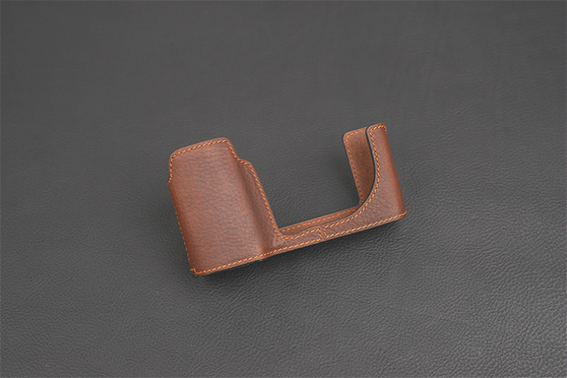 VR Brand handmade Genuine Leather Camera case Half body For Leica T TL TL2 Camera Bag Cover Open Battery design ...