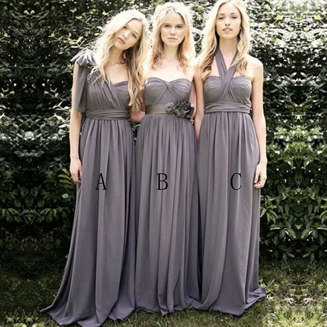 Sexy Pleat Long Gray Bridesmaid Dresses Satin Bridesmaid Dresses Strapless Bridesmaids  Dress For Wedding Bridesmaid Gowns B62 ace9c895277d