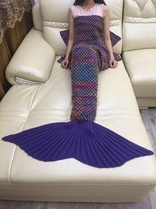 Image 5 - CAMMITEVER הסרוגה סרוג בת ים זנב שמיכת סופר רך כל עונת שינה תיק עבור בנות מבוגרים בני נוער נשים תינוקת מתנה