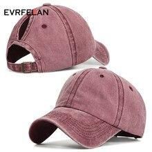 Evrfelan Fashion Design Ponytail Baseball Cap Women Snapback Dad Hat Female  Wash Hat Summer Sport Sun Hat bone Girls gorras 452eedaaa4b