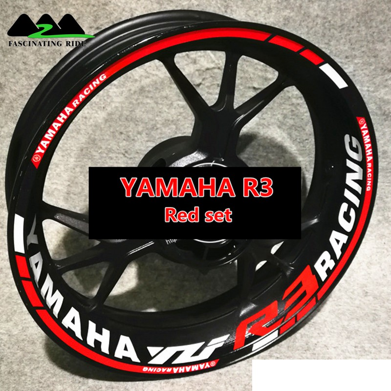 For YAMAHA R6  R3 R1 Motorcycles Waterproof Reflective Sticker  Individualization Wheel Stickers Reflective Rim Stripe Tape