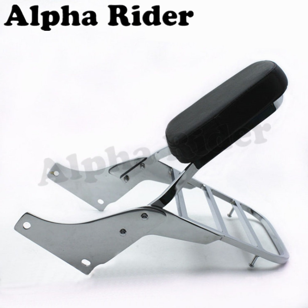 Rear Luggage Rack Support Tail Box Holder Cargo Shelf Bracket w/ Backrest Sissy Bar for Honda VT Shadow 1100 VT1100 1995-2005