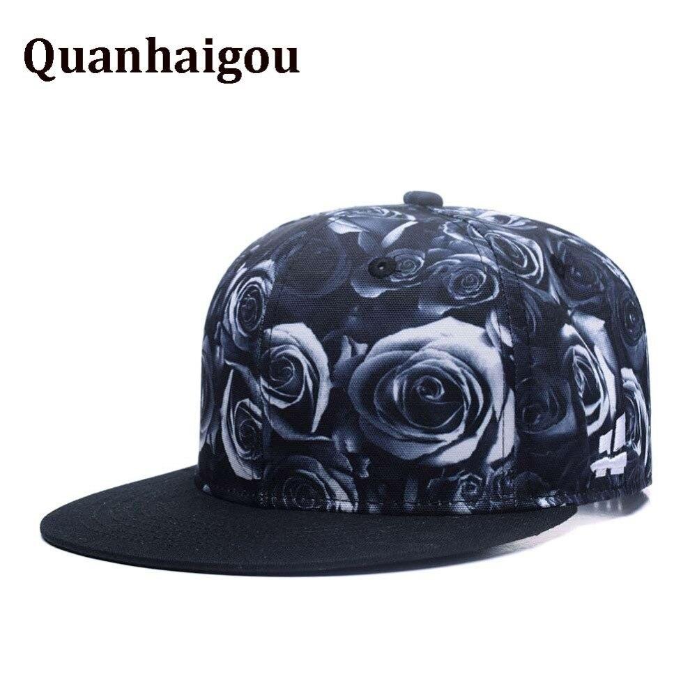 3D Premium Floral Black White Rose 2 Tone Twill Adjustable Snapback Dad Hat  Hip-Hop 801f9b6b13
