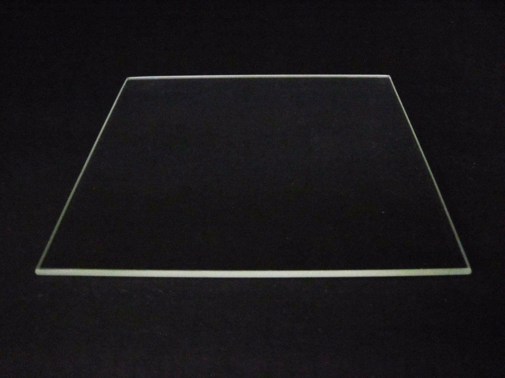 Funssor Borosilicate Glass Plate Bed Polished Edge 310mm x 370mm for  Tornado 3D Printer heated bed dia 400mm 900w 120v 3m ntc 100k round tank silicone heater huge 3d printer build plate heated bed electric heating plate element