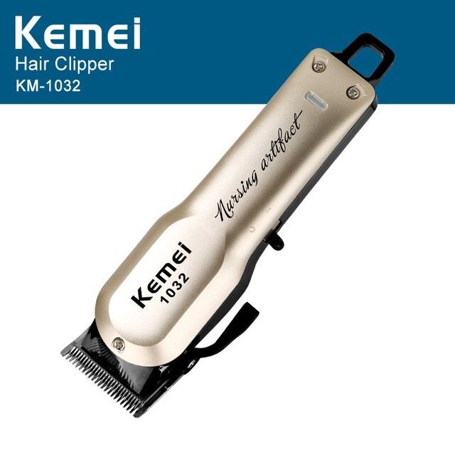 Kemei Rechargeable électrique coupe de cheveux Machine pour homme professionnel étanche cheveux tondeuse sans fil électrique tondeuse KM-1032