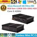 Fino pc intel core i5 4200u max 2.6 ghz 8 gb de ram 128 gb ssd 500 gb hdd frete grátis super mini pc computador usb