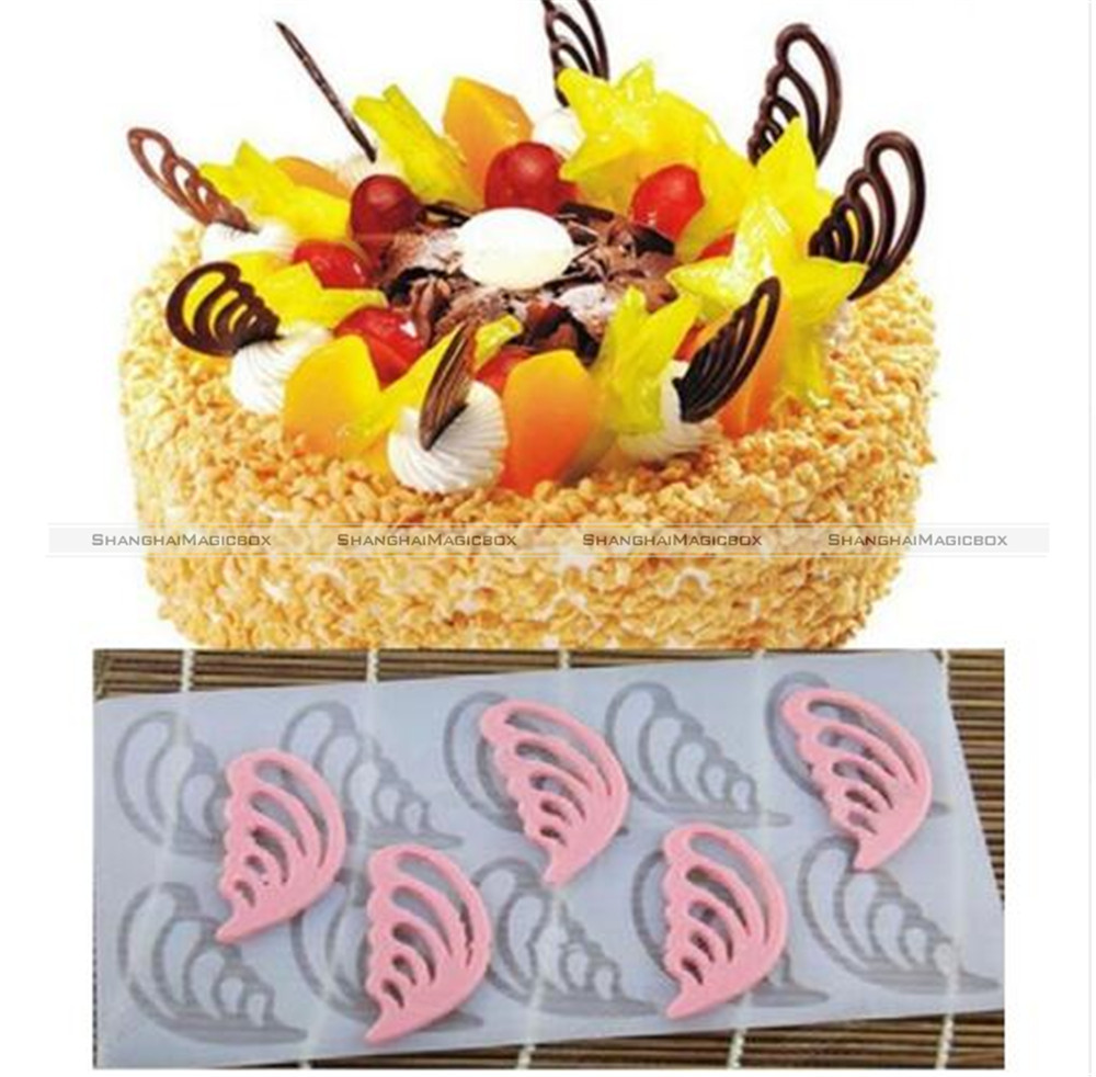 1PC Hollow Angel Wings Shape Silicone Chocolate Mold Bakeware ...