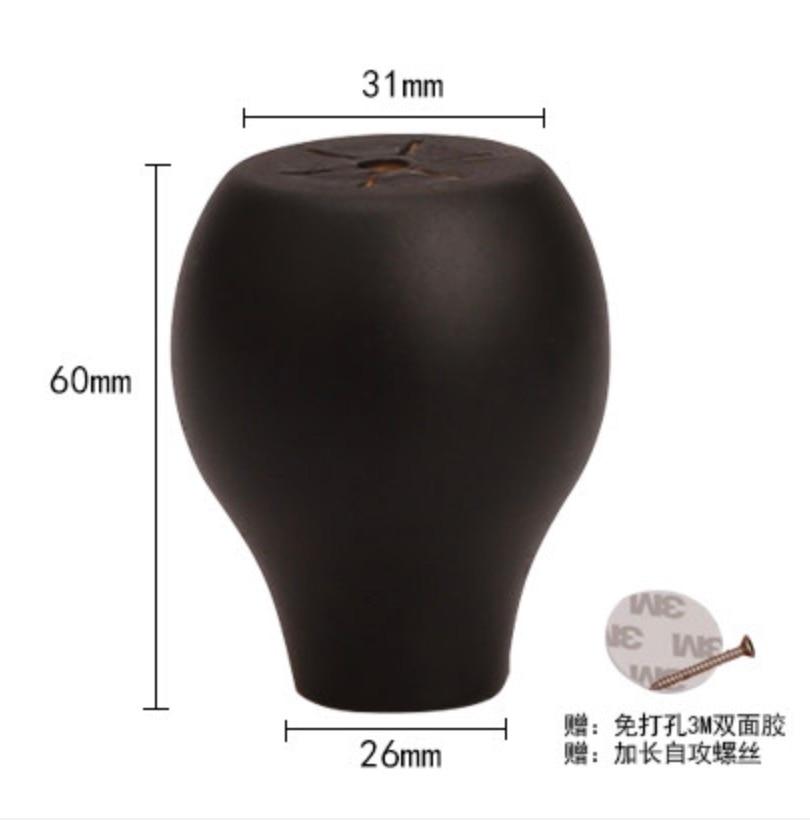 Купить с кэшбэком 4Pieces/Lot  Height:60x31mm  Solid Wood Cabinet Table Foot Mat Heightening Furniture Legs