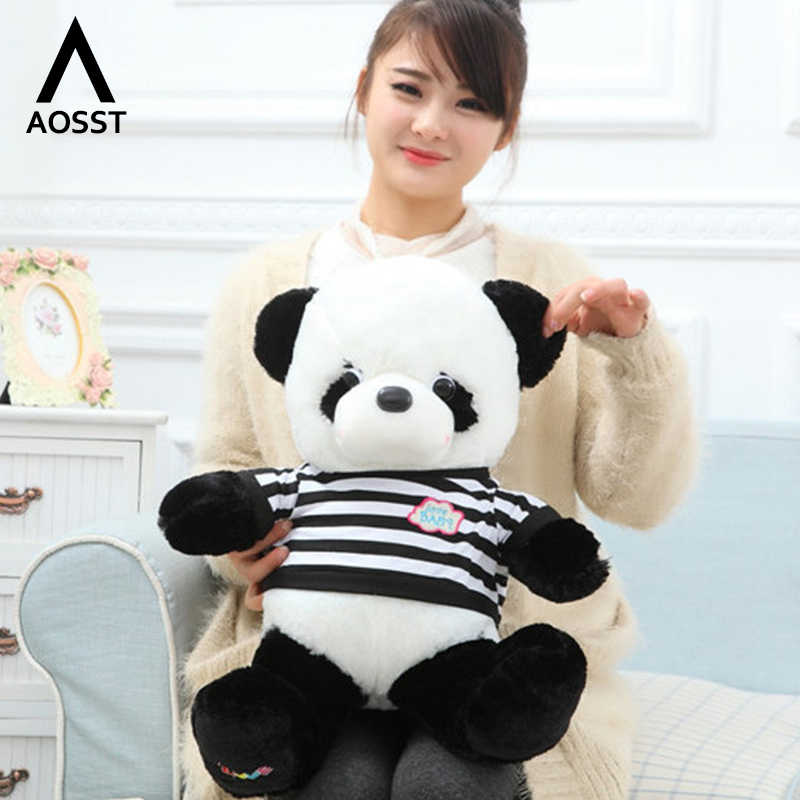 55 CENTÍMETROS Brinquedos De Pelúcia Recheado Com Roupas Panda amante chaveiro Pingente anel Animal Plush Toys Dolls Presente de Casamento Panda brinquedo de pelúcia