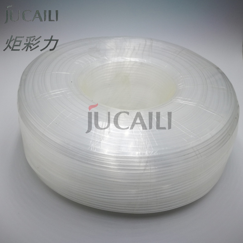 Jucaili 10m/lot Solvent Ink Tube 6 Lines Feeding Tube For Large Format Printer Ink System Ink Line Tube Hose