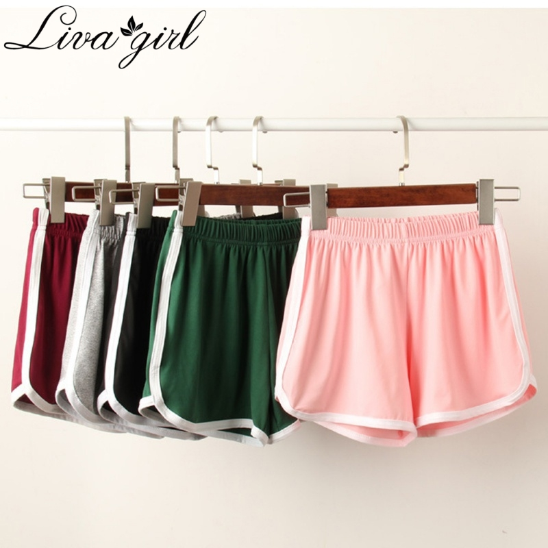 Women   Shorts   Summer Street Casual   Shorts   Feminino All-match Loose Solid Soft Cotton Stretch   Shorts   Ladies Plus Size