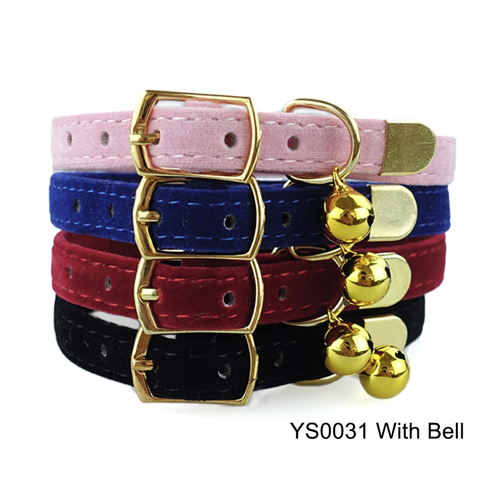 Solid Cat Collar With Bell Safety Cat Collars Adjustable Puppy Dog Collar For Small Dogs Cats Kittens Pet Collar Products YS0032 (7)