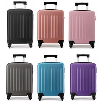 Wholesale 6 Pieces / 1 Lot KONO Cabin Suitcase Luggage Carry on Trolley Case Travel Bag 4 Wheels Spinner Hardside 19 YD1872L
