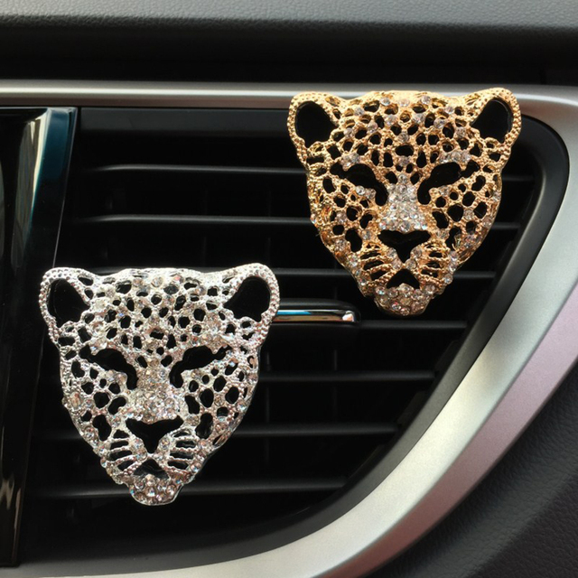 Car Perfume Clip Diamond Tiger Model Fragrance Air Freshener Outlet Auto Interior Decoration Accessory Diffuser Adornment Gifts