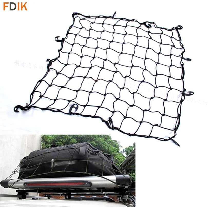 110*98cm Universal Car SUV Truck Trailer Elastic Bungee Roof Luggage Rack Basket Cargo Net for Dodge Fiat Jeep Wrangler Compass