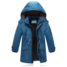 6 T 1pcs Children Winter Jackets for Boys White Duck Down Jackets Thick Warm Outerwear with Hooded Long Children's Coat