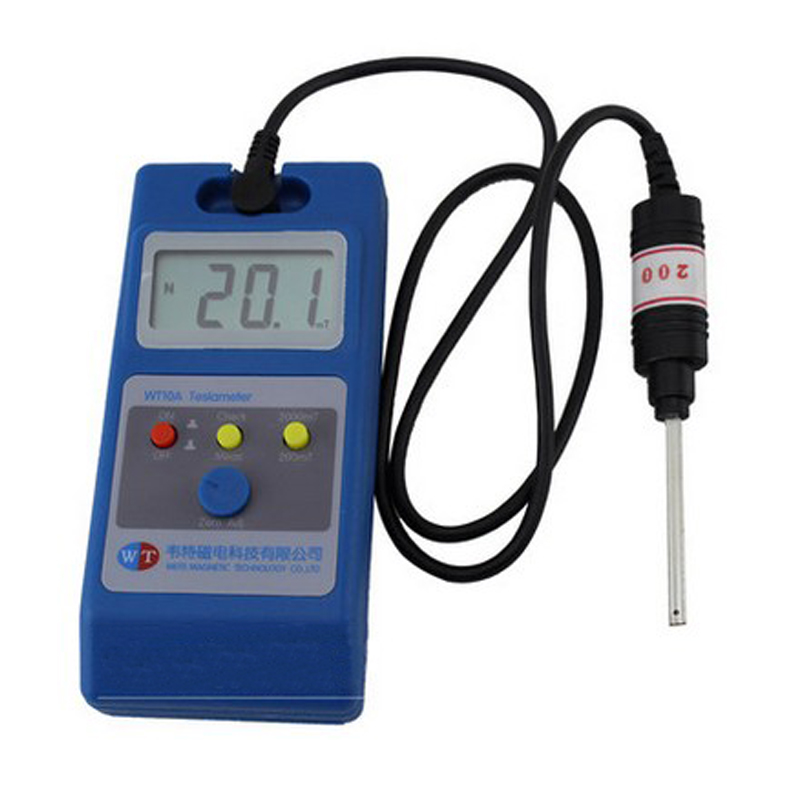 Magnet magnetometer magnetic field strength detector gauss meter flux meter tesla meter WT10A