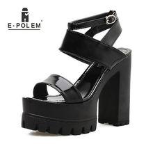 Босоножки женские на высокой платформе пикантные сандалии с