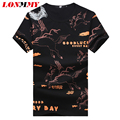LONMMY M-5XL Summer 2016 t shirt men Cotton O-neck Short sleeve T-shirt men Brand clothing fitness Kirin pattern Tops Tees