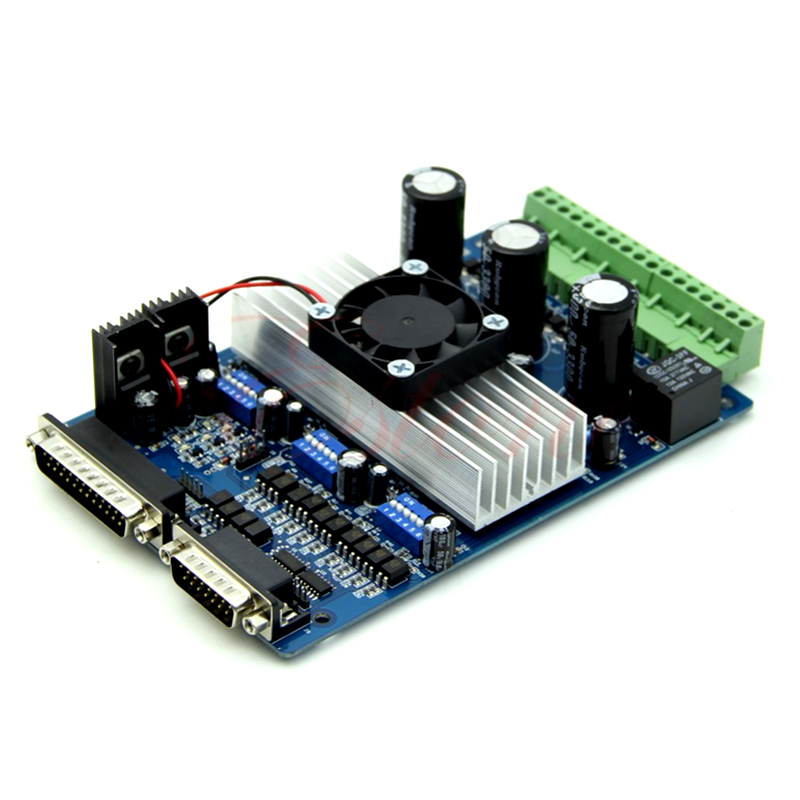 cnc controller 3 Axis TB6560 CNC engraving machine Stepper Motor Driver Controller Board 3.5A cnc 3 axis controller tb6560 stepper motor driver board with 0 10v spindle regulation one db25 caple