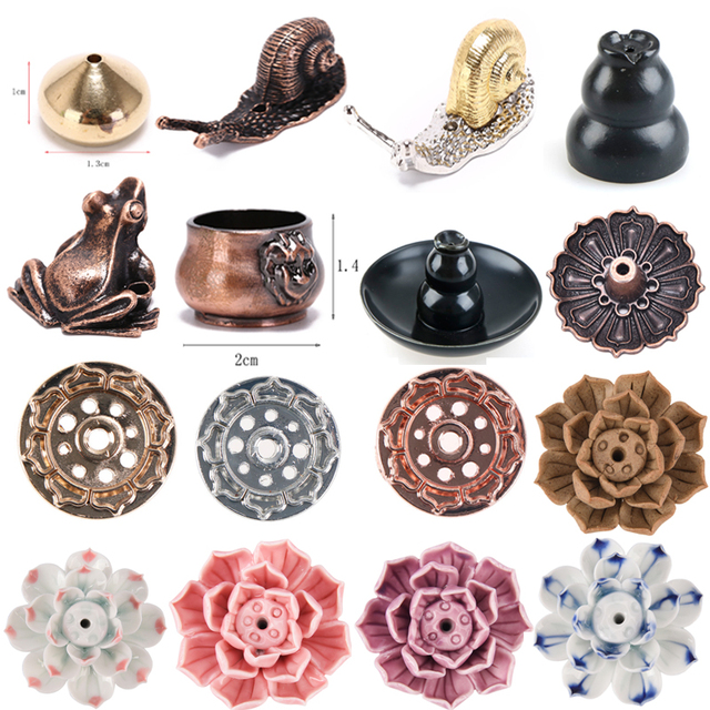 Lotus Flower Snail  Frog Waterdrop Lion Ants Shape Incense Sticks And Coil Incense Burner Censer High Incense Plug