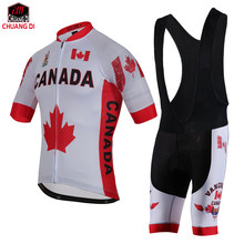 ZM Canada National Flag Cycling Jersey Polyester Quick Dry Pro Bike Jersey MTB Ropa Ciclismo Team Bicycle Riding Maillot Shirts(China)