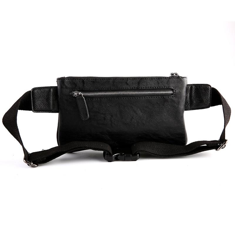 Läder Waist Packs Män Fanny Pack Beltväska Telefonpåse Väskor - Bälten väskor - Foto 5