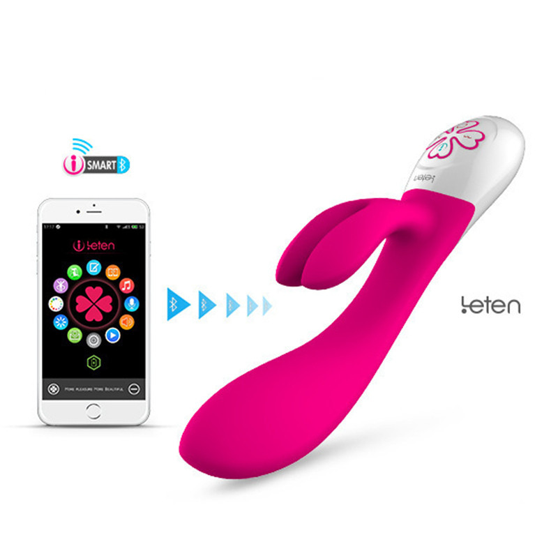 Leten SARA-Big Size Vibrator USB Rechargeable G Spot Vibrators Intelligent Smart Phone Stimulation Wand Sex Toys For Woman leten vibrators for women high frequency shake g point pleasure mobile phone interaction fast climax shake the eggs sex toys