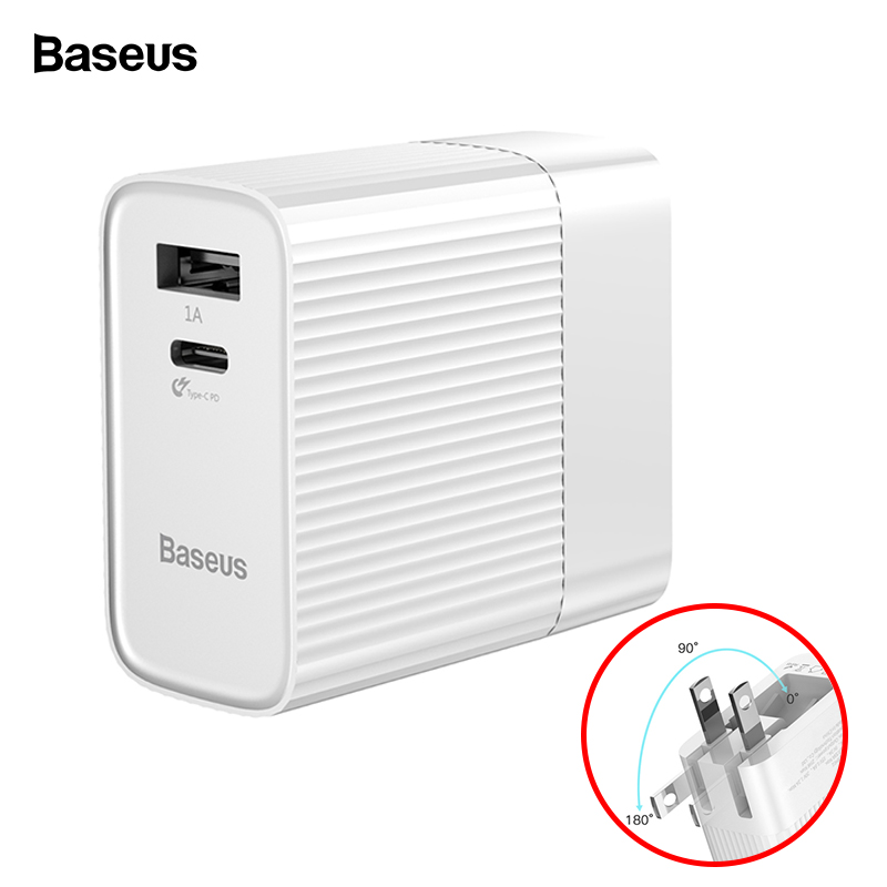 Baseus 29W USB C PD 3.0 USB Charger For iPhone Xs Max Xr Xs X 8 Type C PD Fast Charging Mo