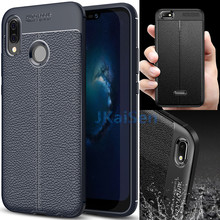 Case Leather Grained Shockproof Anti-Knock For Huawei P20 Mate 20 Lite Pro P10 Honor 10 8X 9 Cover Plus Y7 Y6 2018 Y9 2019 Prime(China)