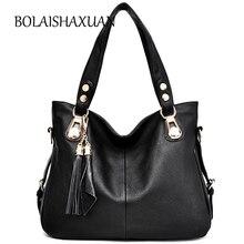Neue Mode Quaste Frauen Leder Tragetaschen Luxus Handtaschen Frauen taschen Designer Crossbody Tasche Sac ein Haupt Schwarz Große Handtasche 2017