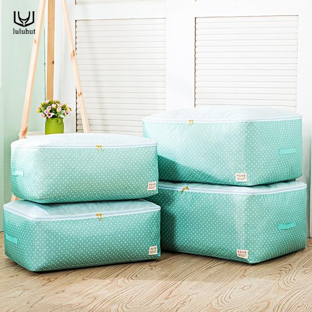 luluhut quilt storage bag waterable finishing bag cotton quilt storage bag clothes storage box large size folding bag