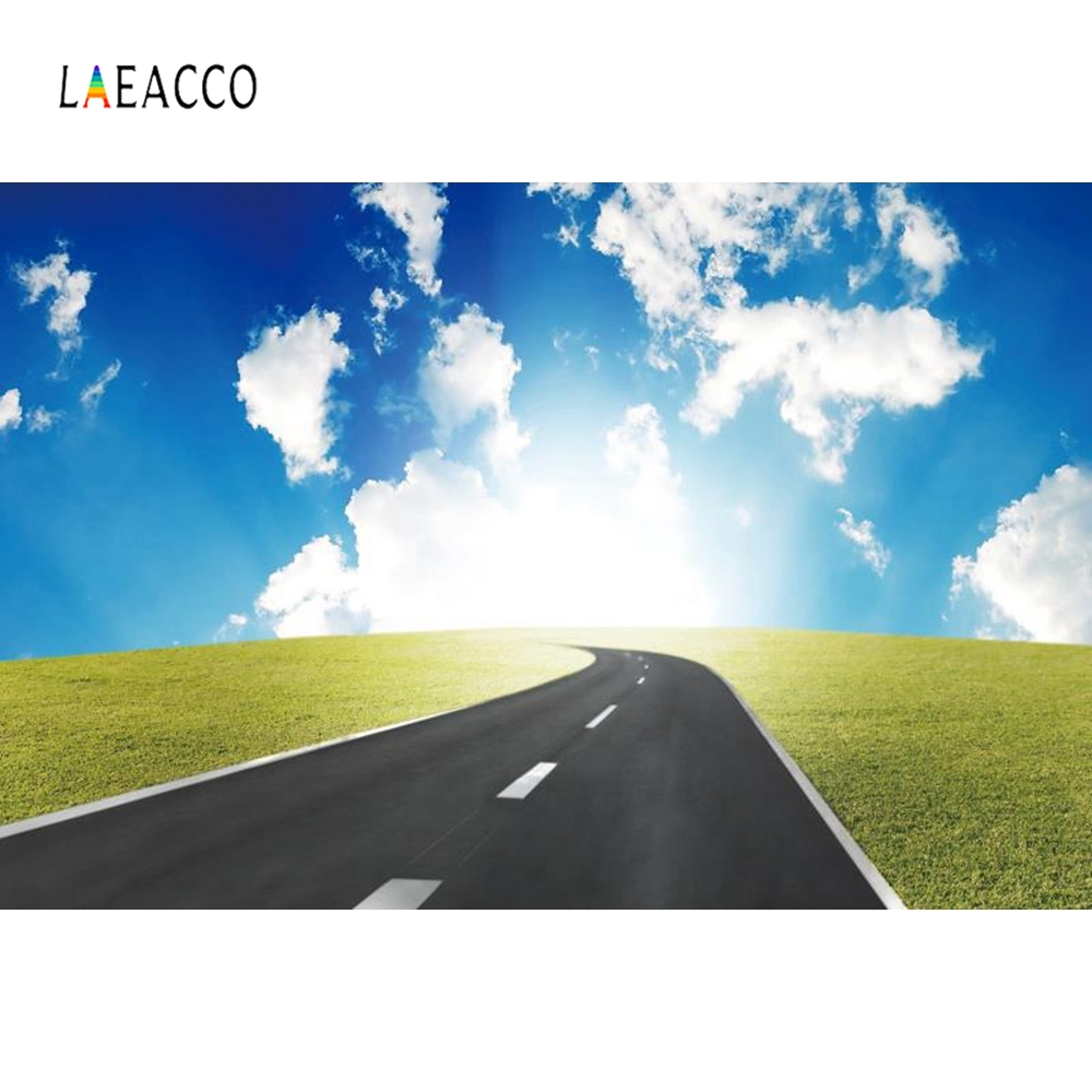 Laeacco Road Sunshine Mountains Backdrop Nature Photography Backgrounds Customized Photographic Backdrops For Photo Studio in Background from Consumer Electronics