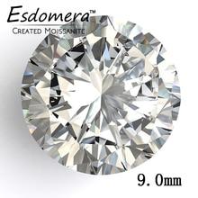 Color F Esdomera Moissanites 3 Carat 9 0mm Round Cut Loose Gemstone Test as Real Lab