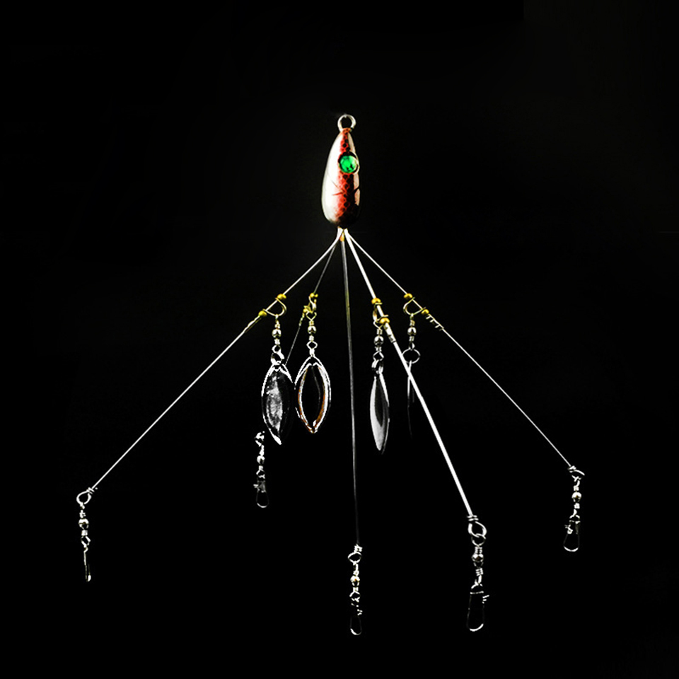 WALK FISH 1PCS Alabama Umbrella Fishing Rig Lure 21.5cm 18g Fishing Lure Stainless Snap Swivel with Spinner Seafishing 4pcs lot alabama umbrella fishing rig lure 5 arm sea rigs tackle 4 color with soft bait bass for ice fishing alabama fishing rig